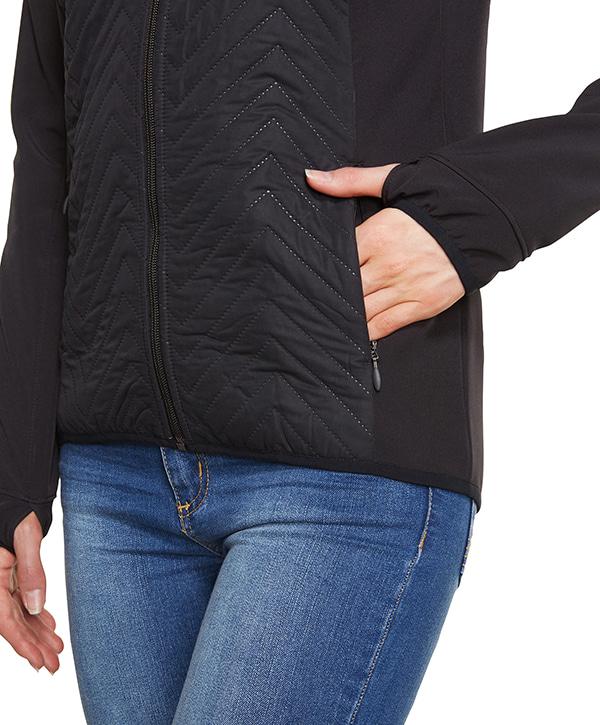 오닐(ONEILL) 오닐 여성 자켓 - 8A5904 PW BAFFLE MIX SOFTSHELL JACKET - BLACK OUT
